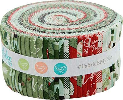 Dani Mogstad Comfort and Joy Rolie Polie 40 2.5-inch Strips Jelly Roll Riley Blake RP-6260-40