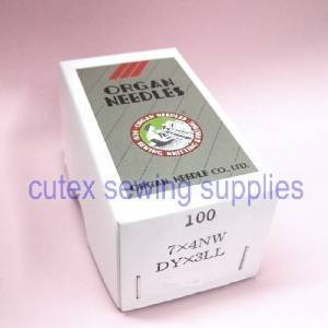 100 Organ 7X4NW DYX3LL Singer 7 Class Leather Point Sewing Machine Needles (Size 26 (metric 230))