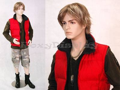 (MD-Steve) ROXY DISPLAY Male mannequin, Teenager style, young and handsome.