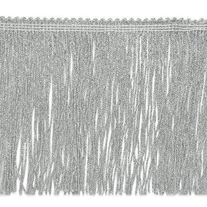 Expo International 20-Yard Metallic Chainette Fringe Trim, 6-Inch, Silver