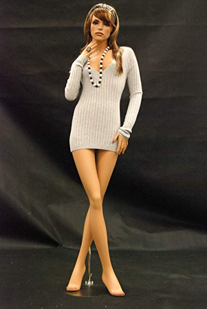 (MD-FR8) ROXYDISPLAY™ Female mannequin, elegant stance with crossed legs.