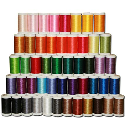 Brother Designio by SA650 50-Piece High-Sheen, Polyester Embroidery Thread Set